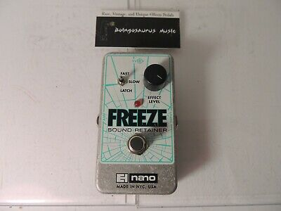 Electro Harmonix Freeze Sound Retainer Effects Pedal Sustain Free USA Shipping