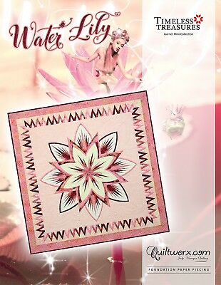 Water Lily Paper Pieced Foundation Quilt Pattern by Judy Niemeyer