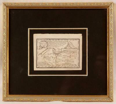 Antique Map of Prussia From  Atlas Minimus by J. Gibson 1758 Professional Frame