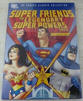 Super Friends The Legendary Super Powers Show Complete Series 2-Disc Dvd Oop New
