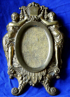 19th century formal French gilded bronze Louis 14th Revival frame circa 1860