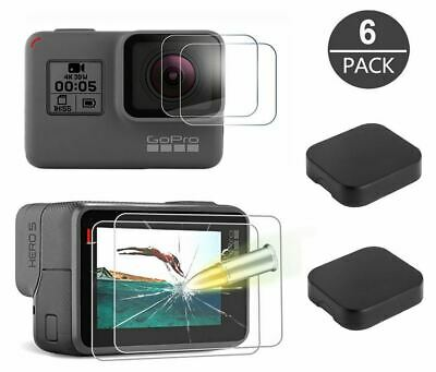 Tempered Glass Screen Protector For GoPro Hero 7 6 5 Lens Caps Anti-Scratch 6 PC