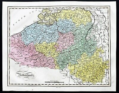 1815 Netherlands Map Austria Flanders Luxemburg Dutch Brabant EX- RARE ORIGINAL