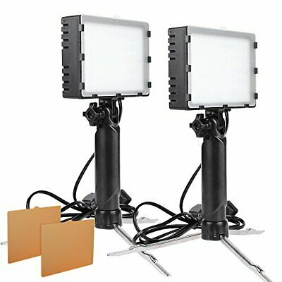 2Sets LED Portable Continuous Photography Light Kit f Table Top w/ Color Filters