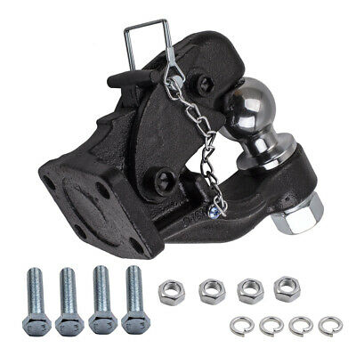 Pintle Hook 8T with Combination 50mm tow ball rated 3.5T Truck Trailer 4WD