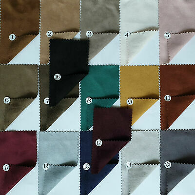"Double Sided 4-Way Stretch Soft Faux Suede Fabric Dressmaking Jacket Skirts 58""W"