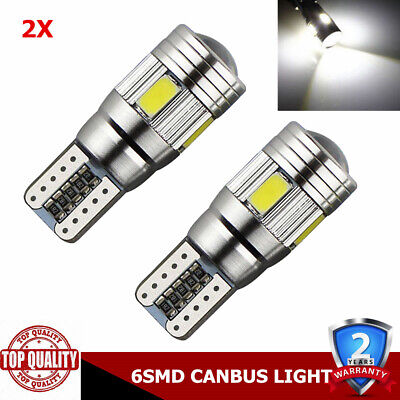 2 X T10 501 194 W5W 5630 LED 6SMD Car HID CANBUS Error Free Wedge Light Bulb LB