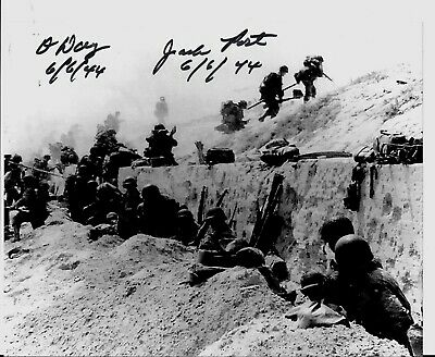 Jack Port 4Th Inf Division D-Day, Battle Of The Bulge, Veteran Rare Signed Photo