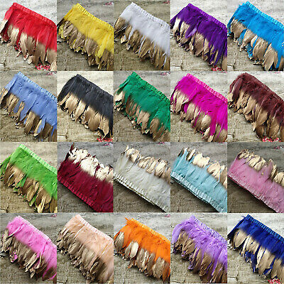 20 Colors 2Yards 15-20 cm/6-8 inches Goose Feathers Ribbons Clothing Accessories