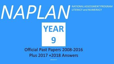 OFFICIAL NAPLAN Past Papers Year 9 2008-2016 with answers and 2017+2018 answers