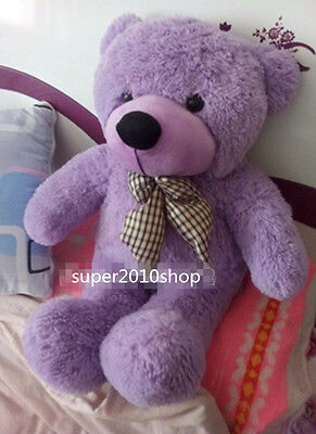 "24""/60CM Giant TEDDY BEAR Purple Plush Toy Soft Stuffed Doll Large Birthday Gift"