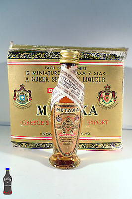 Botellita Botellin mini Metaxa Gold Label S.E.A METAXA S.A. Piraeus Grecia