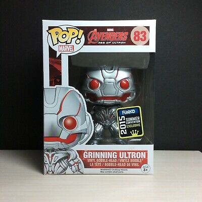 🔥Funko Pop Marvel Avengers GRINNING ULTRON 2015 SDCC Exclusive Protector NMnt🔥