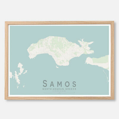 GREECE SYROS ISLAND NEW A1 CANVAS GICLEE ART PRINT POSTER