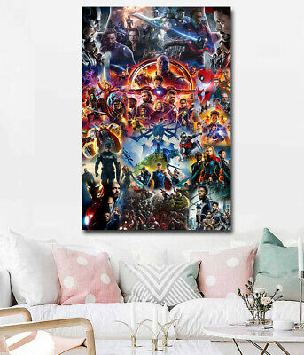 Marvel Cinematic Universe COLLAGE Poster Avengers End Game Movie Film Art Print
