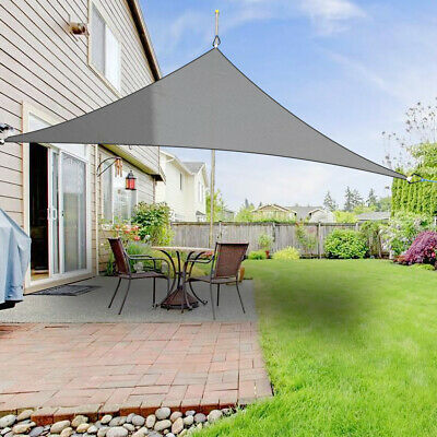 Anthracite Sun Shade Sail Garden Patio Awning Canopy 98% UV Block 2m Triangle
