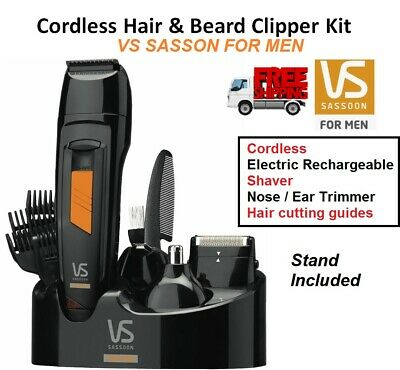 CORDLESS Electric Beard Body Hair Clipper Shaver Mens Grooming Kit Nose Ear NEW