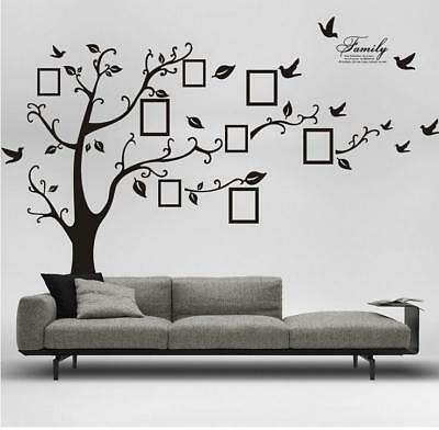 Family Photo Frame Tree Removable Wall Sticker Home Decor Room Window Y3