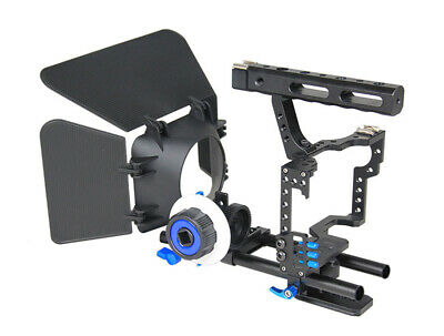 15mm Rod DSLR Rig Camera Video Cage Kit Stabilizer for GH4 A7 A7S A7R A7RII