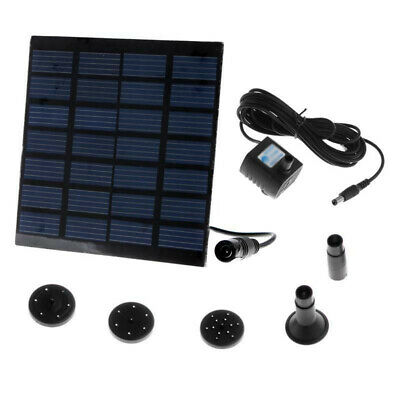 Solar Panel Water Pump Battery Power Brushless Fountain Fish Tank Outdoor Energy