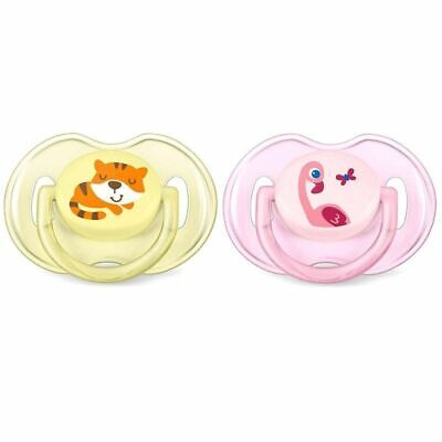 Philips Avent Classic Soother 0-6 Months Girl - Flamingo / Tiger