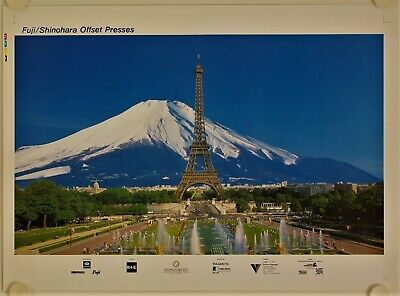 Affiche Tourisme Japon FUJI SHINOHARA Offset Presses