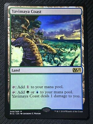 1x Yavimaya Coast (2015 Core Set) M15 LP MTG Magic the Gathering
