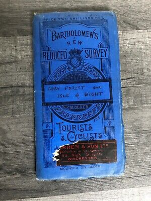 vintage Bartholomews Reduced Survey Map New Forest And Isle Of Wight
