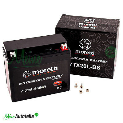 YTX20L-BS GEL BATTERIE ORIGINAL MORETTI MOTORRAD QUAD 12V 18Ah HONDA GOLDWING