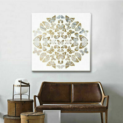 Vintage Gold Butterflies Stretched Canvas Print Framed Printing Wall Decor F124