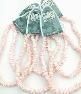 6 Pink Puka Shell Necklace Unisex Surf Holiday Beach Summer Jewellery PS6