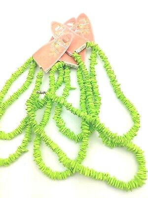 6 Green Puka Shell Necklace Unisex Surf Holiday Beach Summer Jewellery PS1