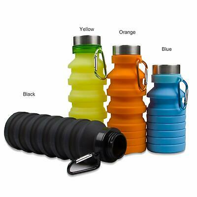 Collapsible Water Bottle BPA Free, Travel Outdoor Foldable Water Cup 500ml
