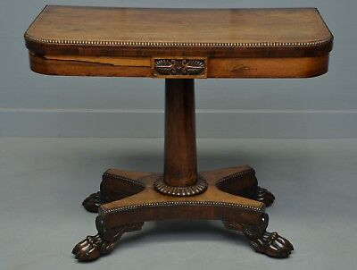 Elegant William IV Rosewood Side / Games Table