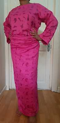 African ladies Pink Jacquard Buba Lace UK size 18/20