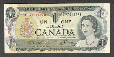 1973 *FV $1.00 BC-46aA F-VF SCARCE Bank of Canada Key ASTERISK REPLACEMENT Note