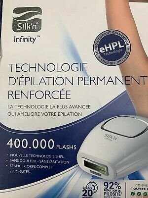 Silk'n Infinity 400,000 Pulse & Glide Tech Permanent Hair Removal  Brand New