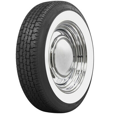 "American Classic 2 1/4"" Wide White Wall Tire Perfect For VW Beetle 165R15 Coker"