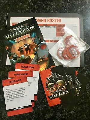 Kill Team Organized Play OP—Arena Vigilus Objective Counters + Tactics Cards