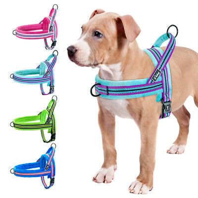 Reflective Dog Harness Pet No Pull Strap Vest Front Leading Walking Harness XS-L