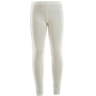 Kids Girls Cream Plain Full Length Stretchable Legging Great Fit 7 - 13 Years