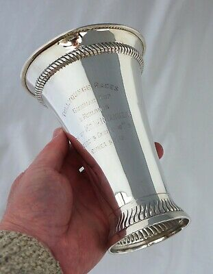 Silver Colonial Horse Racing Trophy. Royal Calcutta Turf Club, Tollygunge 1913.