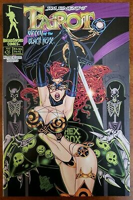 TAROT WITCH OF THE BLACK ROSE 26 COVER A HEX BOX BroadSword Comics 2004  NM