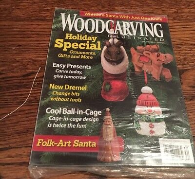 WOOD CARVING ILLUSTRATED MAGAZINE 2013 HOLIDAY MAGAZINE Issue 65 NEw in plastic