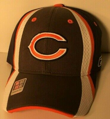 f233307481219 Chicago Bears NFL Football Team Embroidered Reebok One Size Fits All Hat Cap