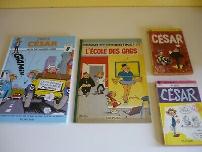 MM. TILLIEUX - CESAR - Lot de 4 albums
