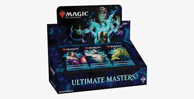 MTG Ultimate Masters Booster Box Factory Sealed WITH Box Topper Fast Ship