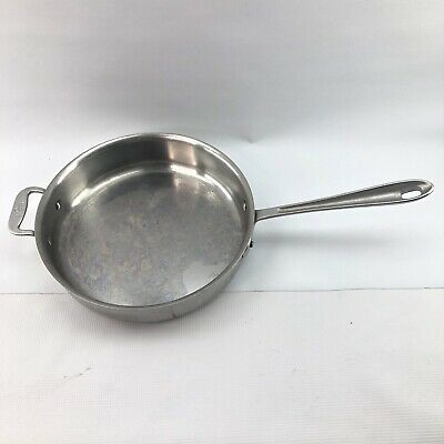 All-Clad Vtg Master Chef 3 Qt 403 Aluminum / Stainless Steel Sauce Pan w/ Lid