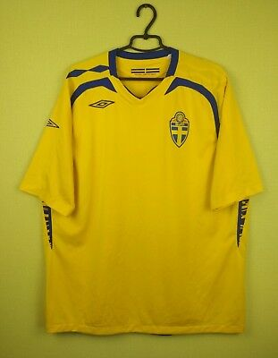 Sweden team jersey shirt 2007/2009 Home official umbro soccer football Size 2XL