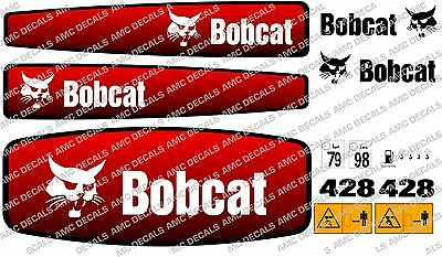 Bobcat 428 Mini Digger Decal Set